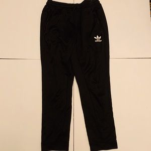 MENS ADIDAS TRACK PANTS BLACK AND WHITE LARGE